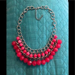 Jewelry - PINK AND SILVER NECKLACE!
